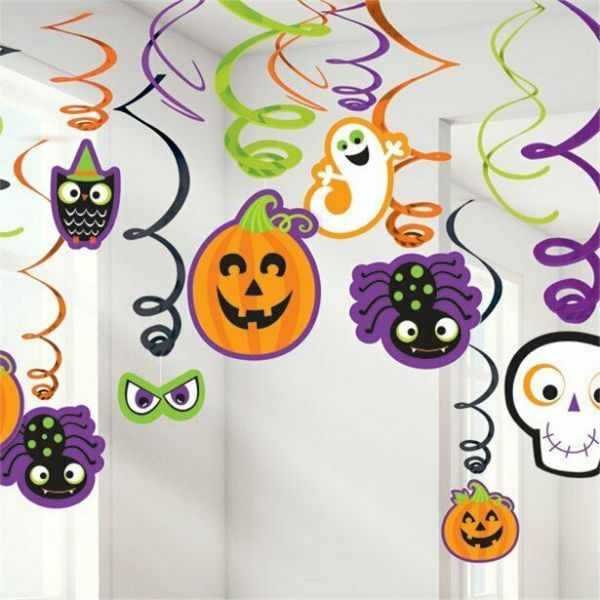 Halloween Family Friendly Hanging Swirls 30pk